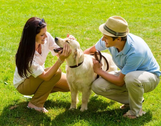 Couple & Dog