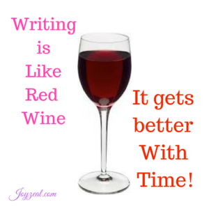 writing is like wine